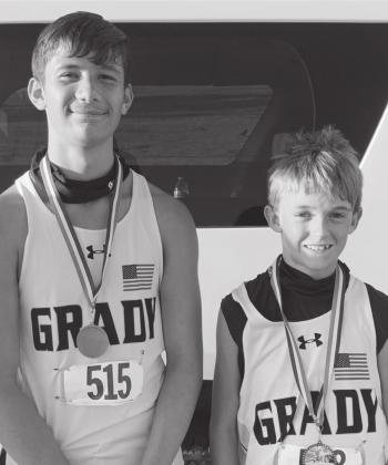 Logan Aaron and Hagan O'Donnell led the Grady Wildcats to a first place team finish in their heat/division.